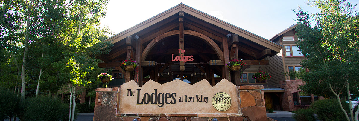 Exterior sign of Lodges at Deer Valley and The Brass Tag