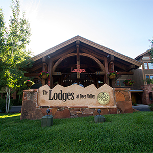 Exterior image of Lodges at Deer Valley during winter