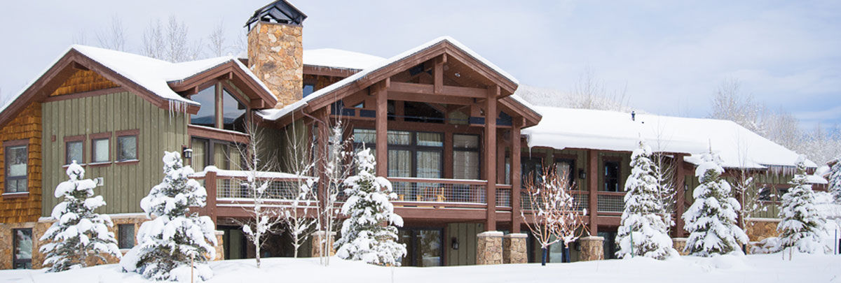 Exterior winter view of 2665 Daystar Circle Private Home