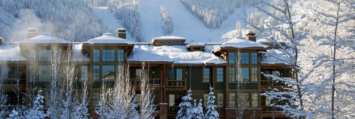 Exterior snowy winter view of Lodges at Deer Valley