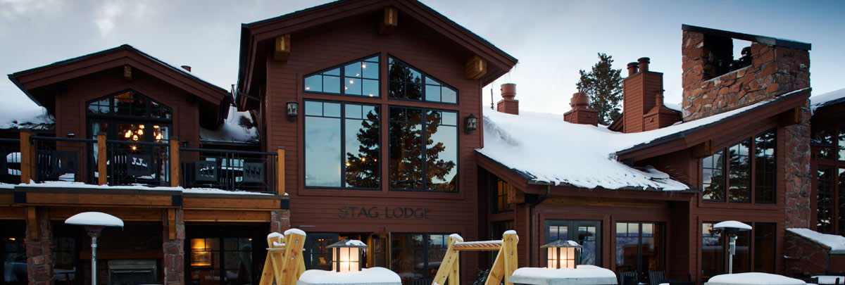 Exterior winter view of Stag Lodge
