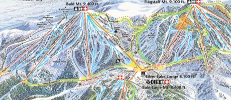 Image of the Deer Valley Resort Winter Trail Map