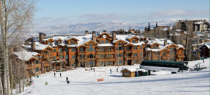 View of The Grand Lodge and Northside Express chairlift