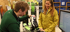 Guest in Ski Rental Shop