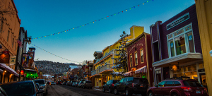 Image of Main Street Park City at dusk