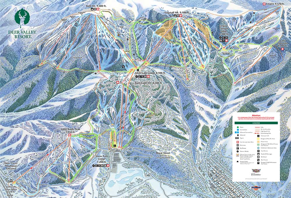 Deer Valley Resort Trail and Lodging Maps