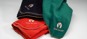 Image of Deer Valley logo blankets