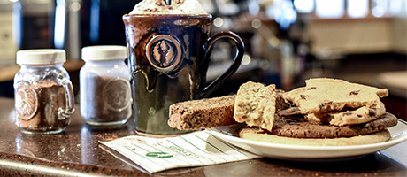 Image of coffee mug, biscotti and cookies from Deer Valley, Etc.