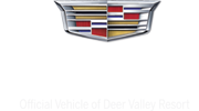 Cadillac Logo: Official Vehhicle of Deer Valley Resort